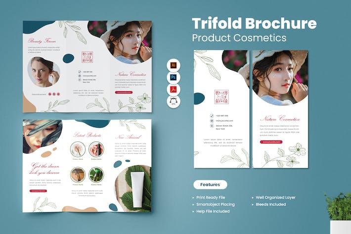 Kosmetika Produkt Trifold Broschüre