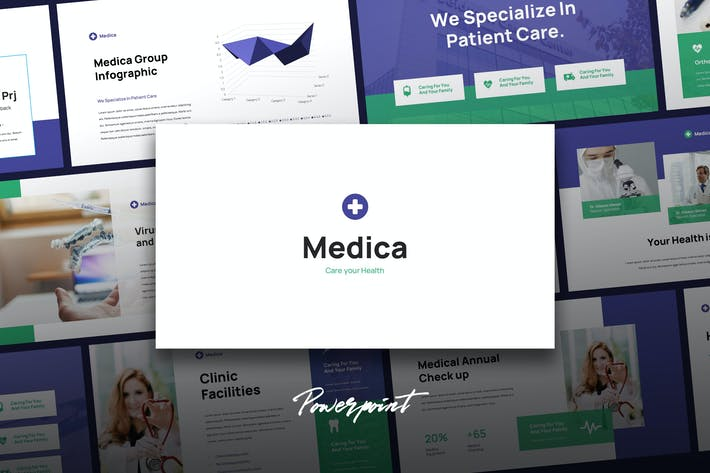 Cover Image For Medica - Medical Theme Powerpoint Template