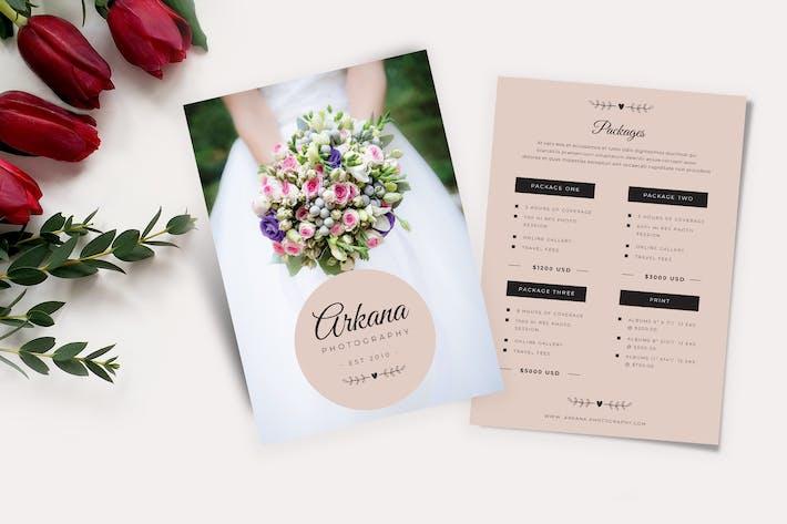 Thumbnail for Wedding Price List Flyer