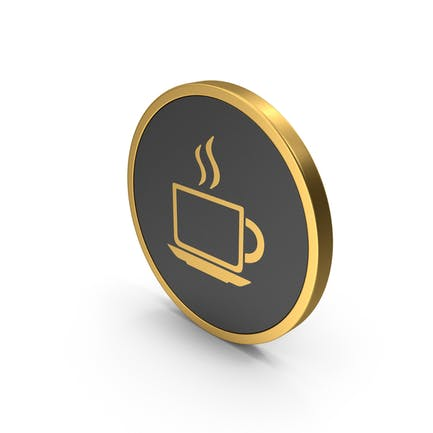 Coffee Cup Gold Icon