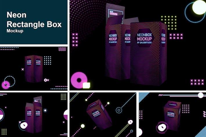Thumbnail for Neon Rectangle Box Mockup