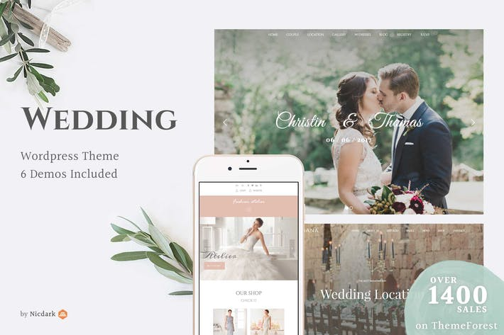 Thumbnail for Wedding WordPress Theme