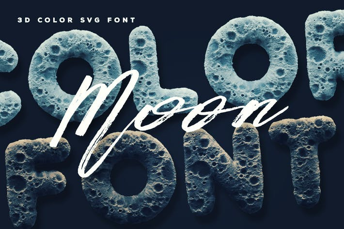 Thumbnail for Moon Color Font