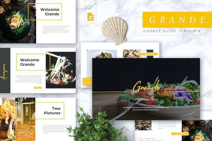 Thumbnail for GRANDE - Restaurant & Food Google Slides Template