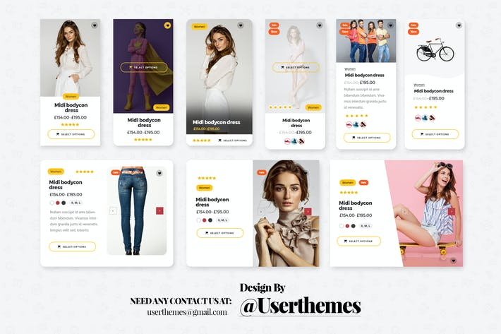 Thumbnail for eCommerce Website Widget UI Kit Elements PSD