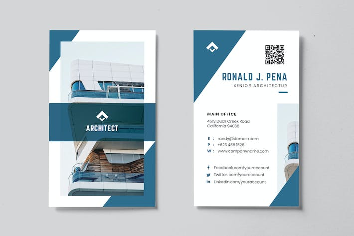 Thumbnail for Minimalist Business Card AI and PSD Vol.05