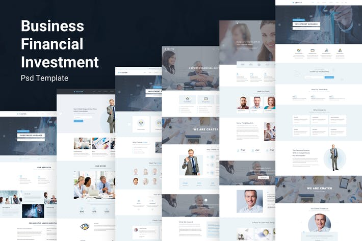 Thumbnail for Crater - Business & Financial PSD Template