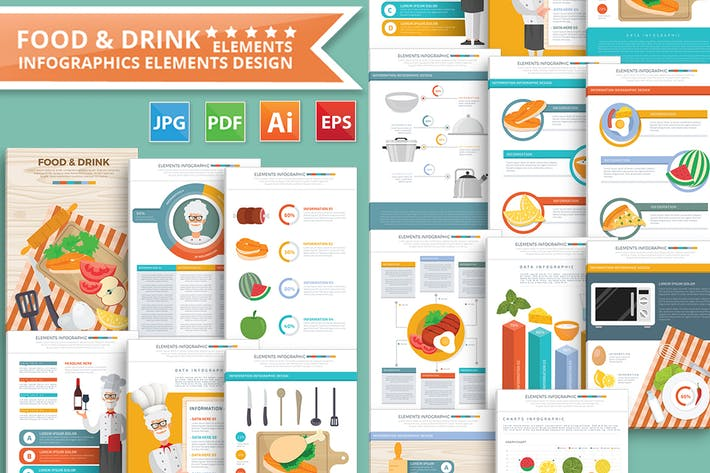 Thumbnail for Food & Drink infographic Design