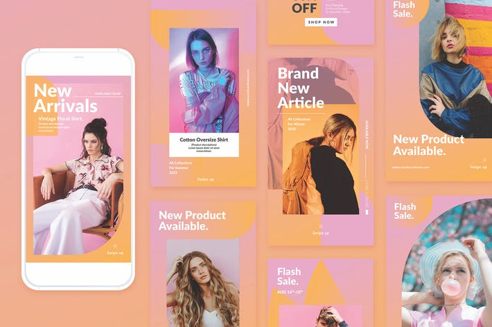 Thumbnail for Fashion Instagram Template
