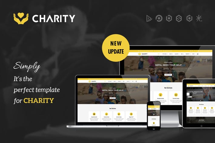 Thumbnail for Charity - Nonprofit, Fundraising Joomla Template
