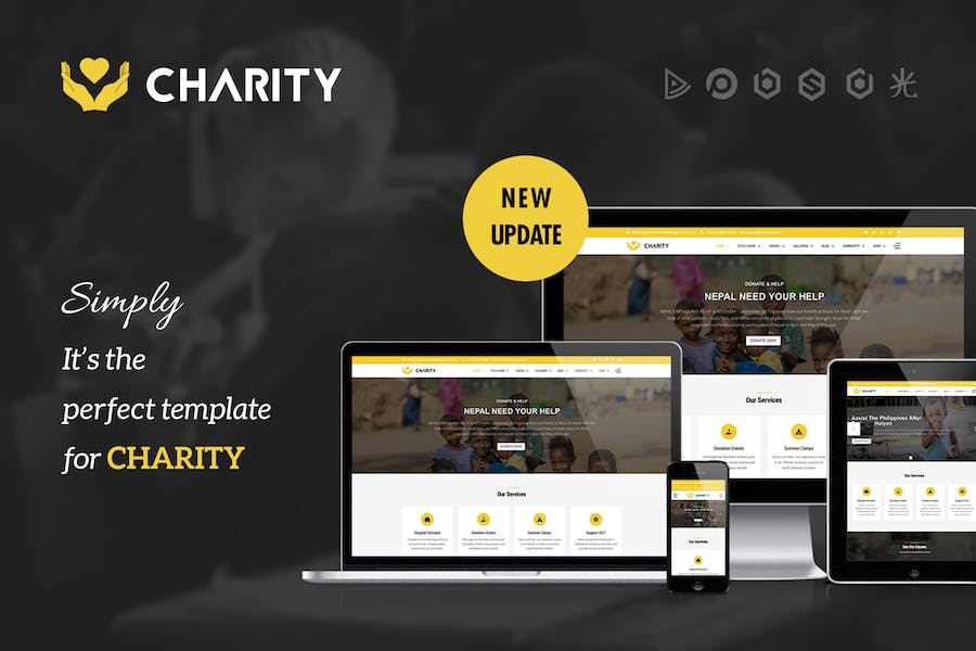 Charity - Nonprofit, Fundraising Joomla Template - product preview 0