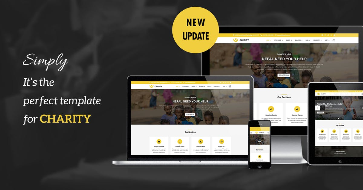 Download Charity - Nonprofit, Fundraising Joomla Template by templaza