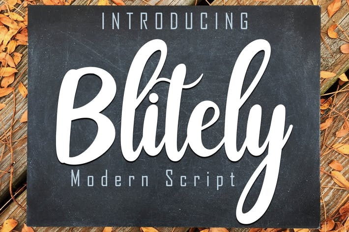 Thumbnail for Blitely Modern Script