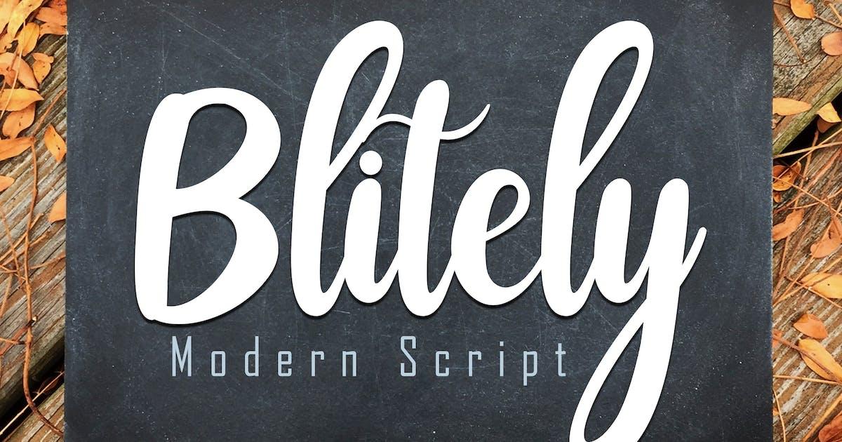 Download Blitely Modern Script by Skiiller_studio