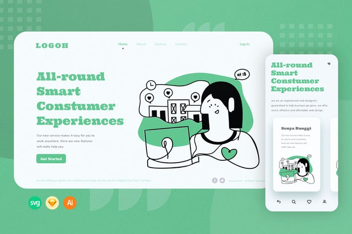 Webillustration zur Verwaltung der Kundenerfahrung