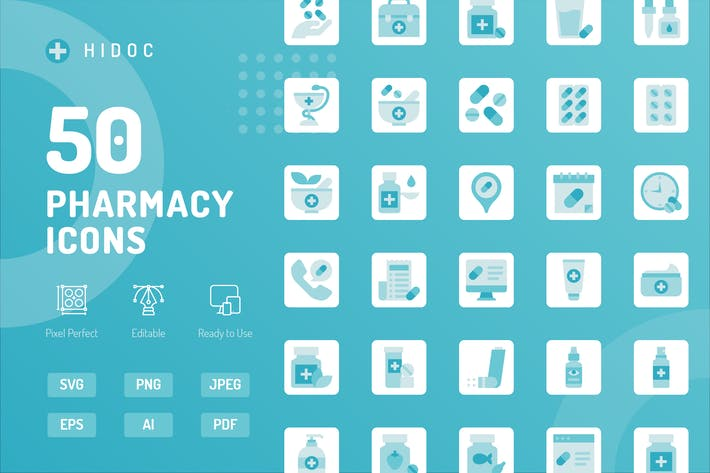 Hidoc - Pharmacy Icons