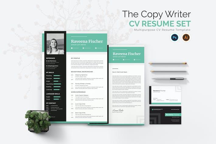 Thumbnail for Copy Writer CV Resume Set