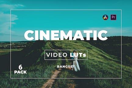 Bangset Cinematic Pack 6 Video LUTs