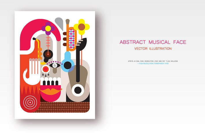 Thumbnail for Abstract Musical Face vector illustration