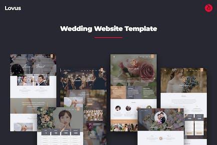 Lovus - Wedding, Planner, Invitation Web Template