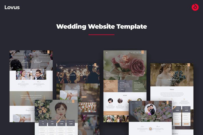 Thumbnail for Lovus - Wedding, Planner, Invitation Web Template
