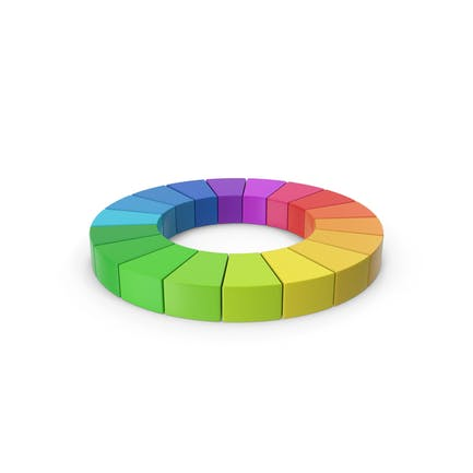 Rainbow Pie Chart