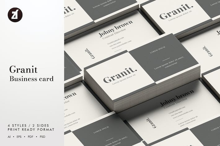 Thumbnail for Granit - Business card template