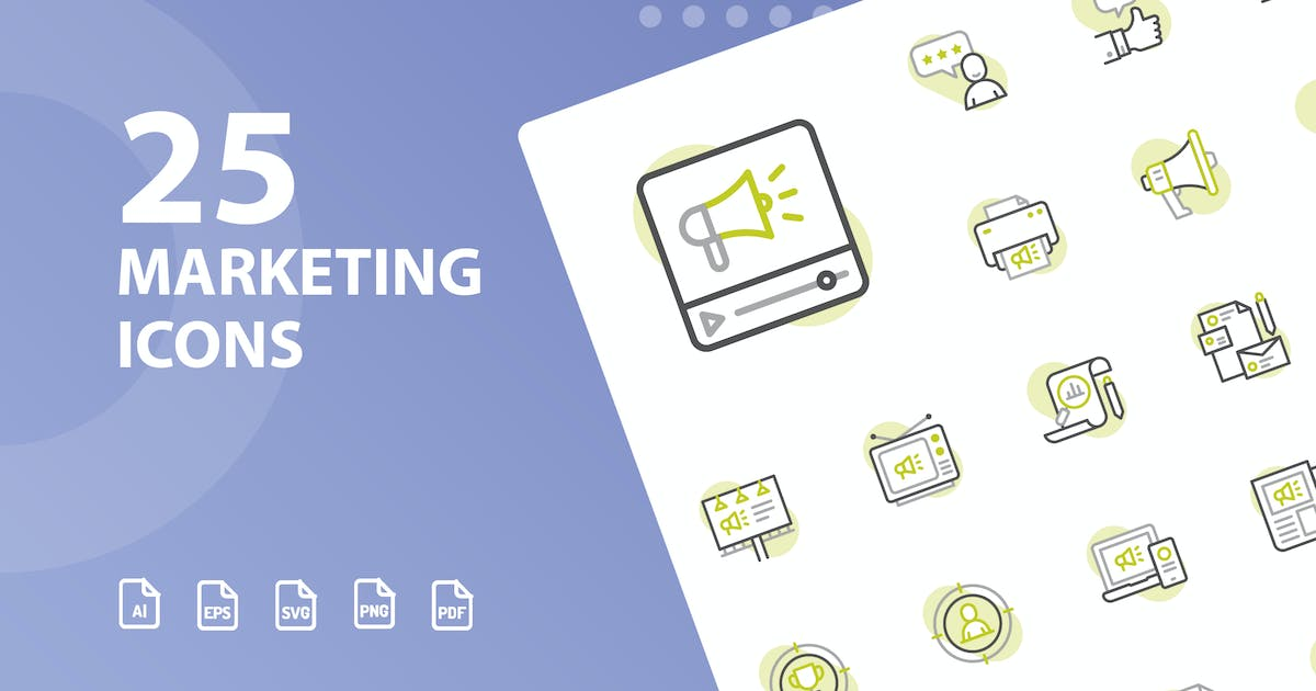 Download Marketing Shape Icons by kerismaker