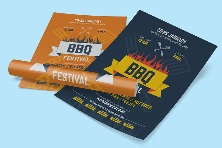 Thumbnail for BBQ Festival Poster Template