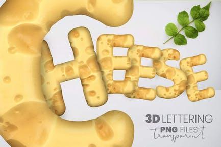 Schweizer Käse 3D Schriftzug
