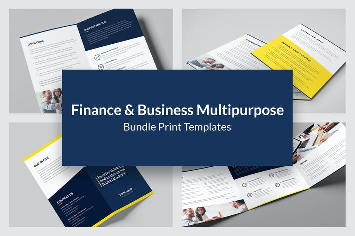 Thumbnail for Finance and Business – Brochures Bundle 8 in 1
