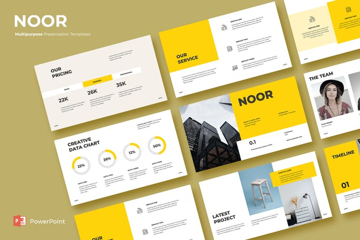 Thumbnail for NOOR - Powerpoint Template
