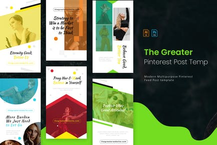 The Greater | Pinterest Post Template