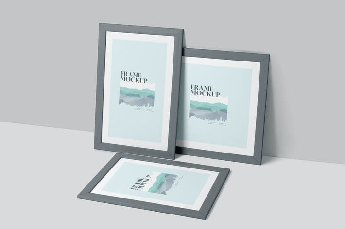 Thumbnail for Rectangle & Square Artwork Frame Mockup Set