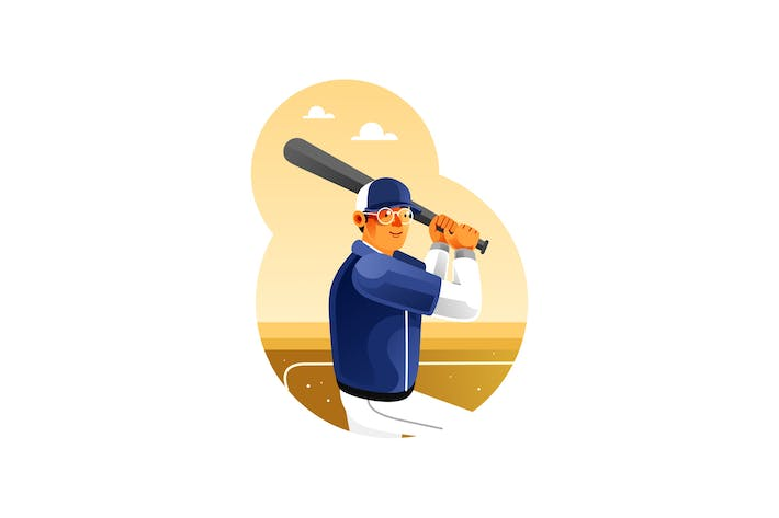 Thumbnail for Baseball player is getting ready to hit the ball