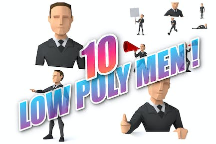 10 low poly business Men !
