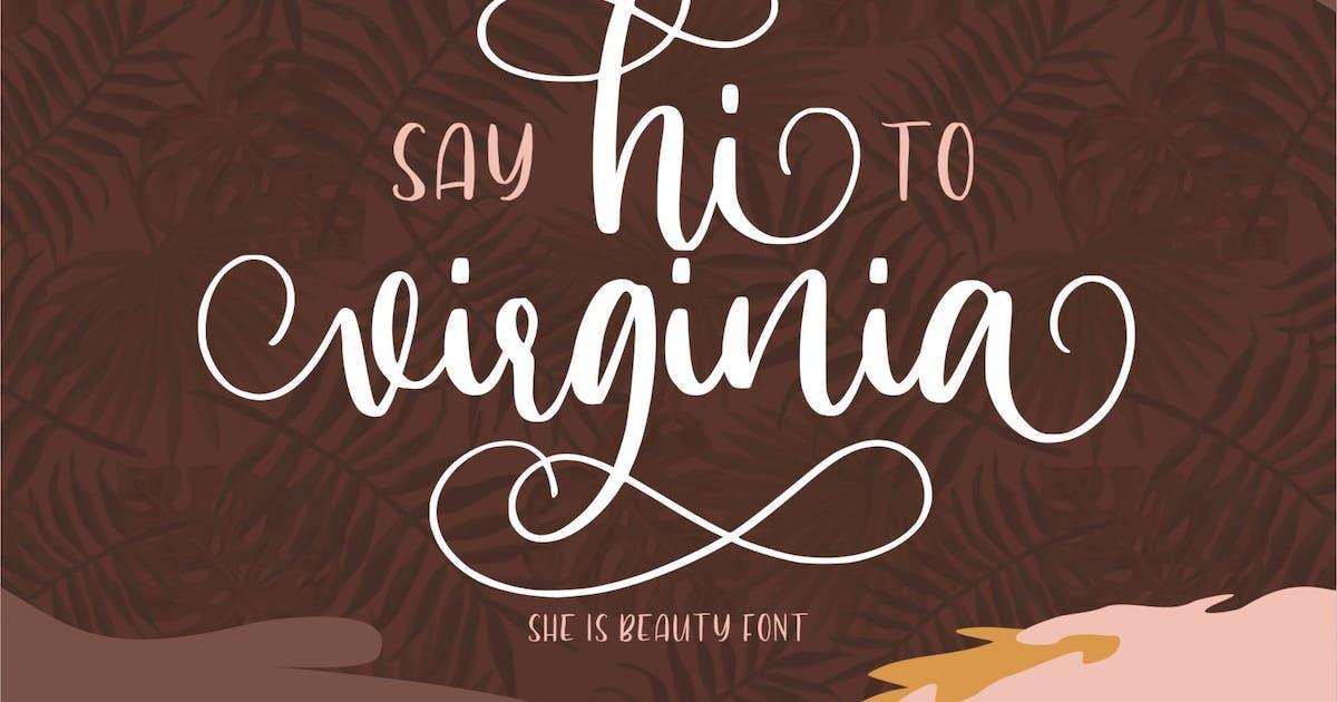 Download Hi Virginia | Handlettering Font by garisman