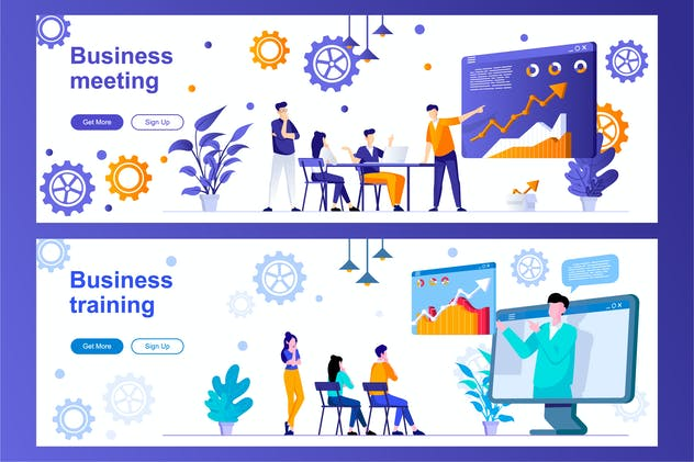 Business Meeting and Training Web Banners