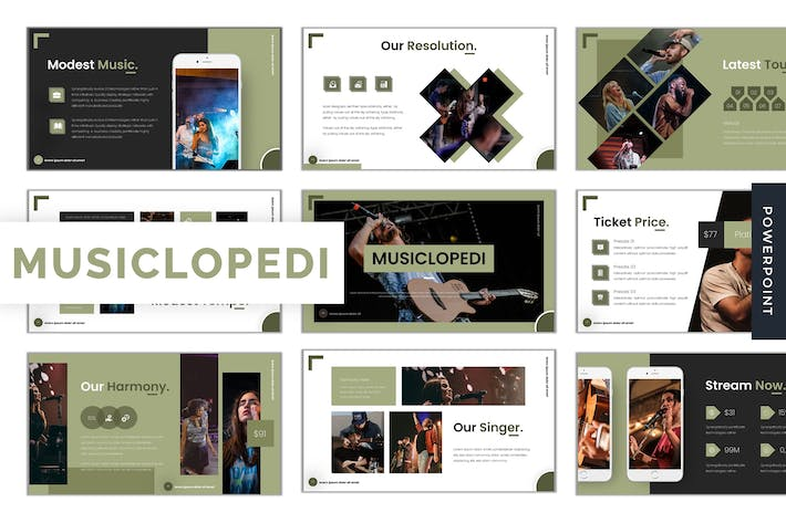 Thumbnail for Musiclopedi - Powerpoint Template