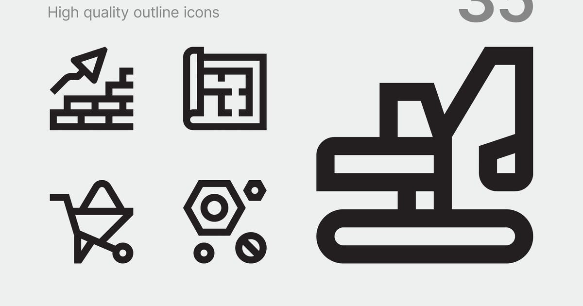 Download Construction icons by polshindanil