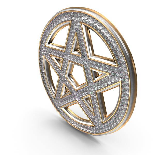 Bling Diamonds Pentagram