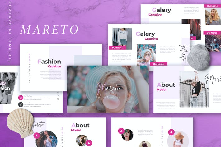 Thumbnail for MARETO - Fashion Powerpoint Template