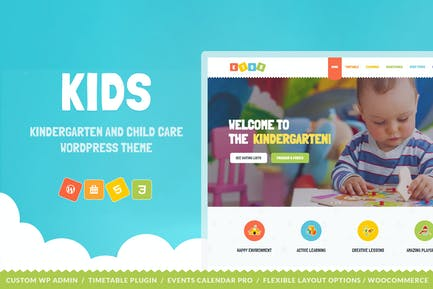 Kids - Day Care & Kindergarten WordPress Theme