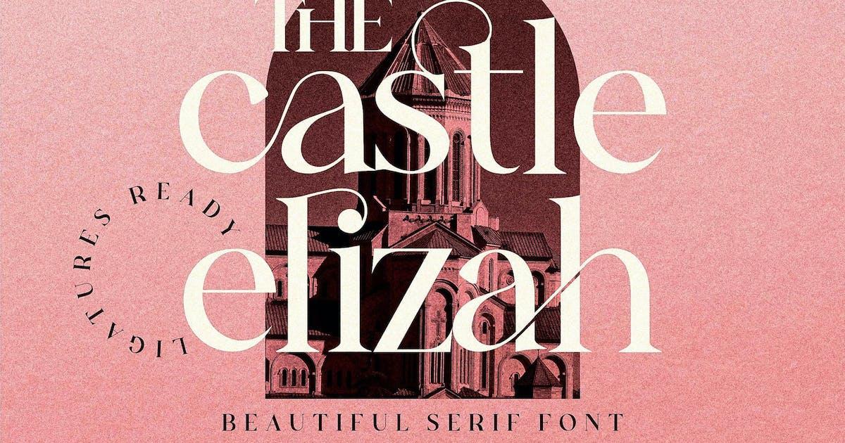 Download The Castle Elizah Serif Font LS by GranzCreative