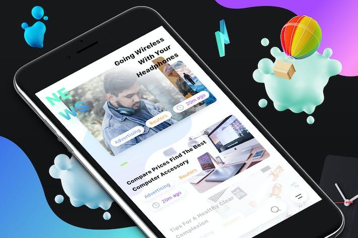 Thumbnail for Новости 7 Мобильный Ui