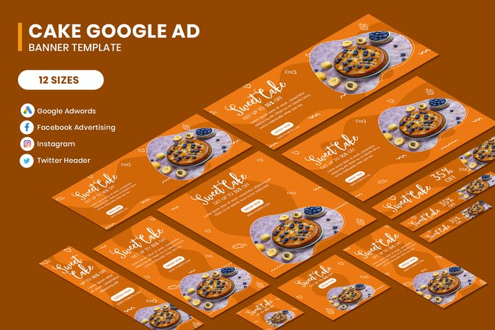 Thumbnail for Cake Google AD Template