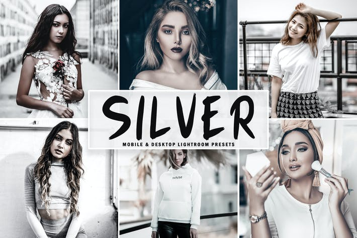 Cover Image For Silver Mobile & Desktop Lightroom Presets