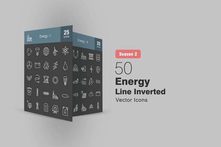 Thumbnail for 50 Energy Line Inverted Icons Season II