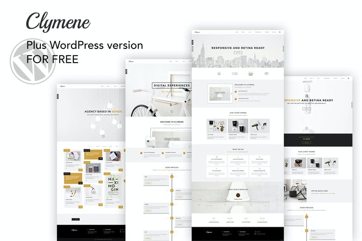 Cover Image For Clymene - Creative Multipurpose HTML Template + WP