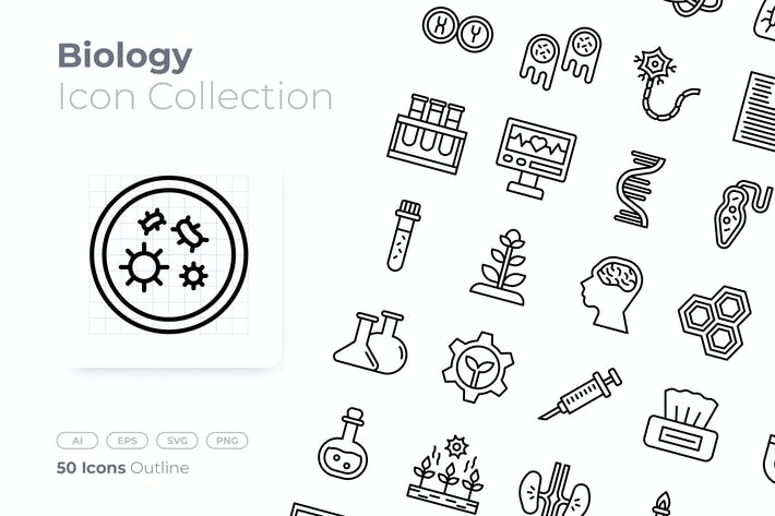 Biology Outline Icon